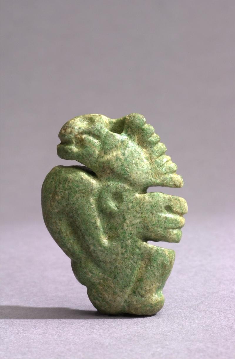 Squatting Human Figure Bead in Profile