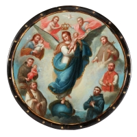 Virgin of the Apocalypse Surrounded by Saints (nun's badge)