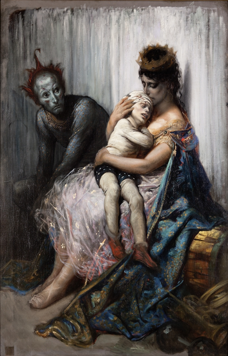 The Family of Street Acrobats: the Injured Child (La Famille du Saltimbanque: L'Enfant Blessé)