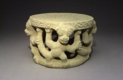 Metate with Sculpted Monkeys