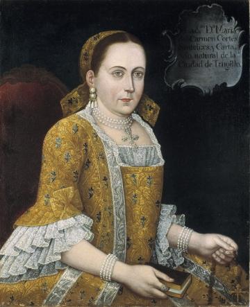 Portrait of Maria del Carmen Cortes y Cartavio