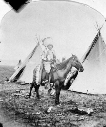 Ute Man on Horseback, Los Pinos Agency, Colorado