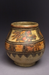 Ring-based Jar with Painted Figures