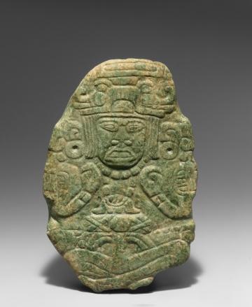 Carved Jade Boulder Depicting a Ruler