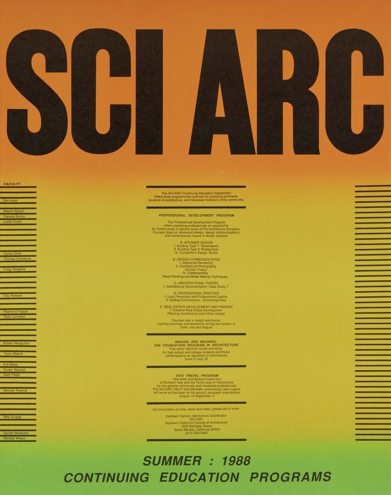 SCIArc Summer 1988