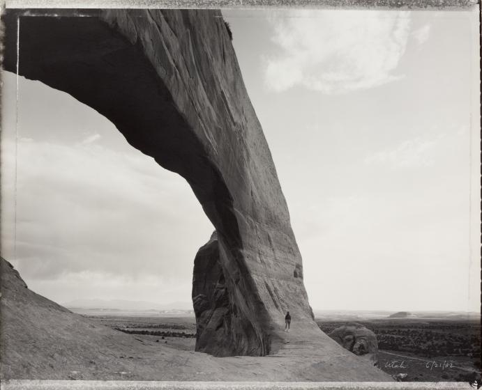 Beneath the Great Arch, near Monticello, Utah 6/21/82