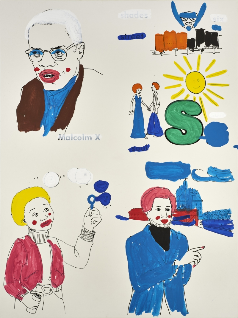 Malcolm X, Sun, Frederick Douglass, Boy with Bubbles (version 3) #1