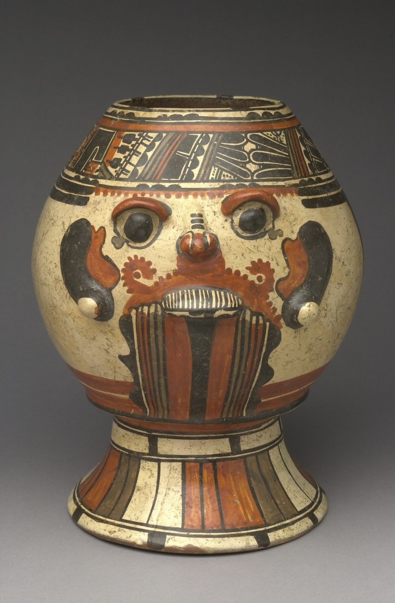 Head-form Pedestal Jar