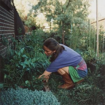 Pamela Weeding the Garden, Boulder