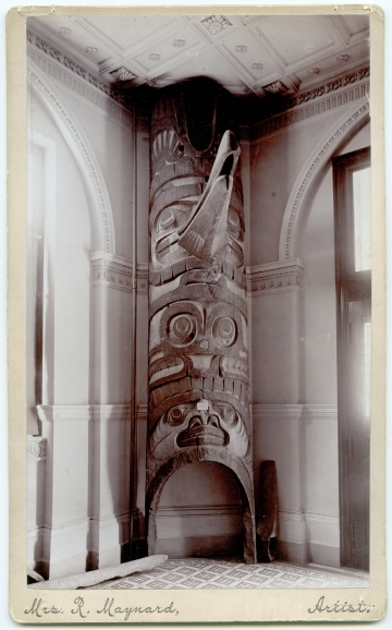 Heiltsuk (Bella Bella) carving at the Provincial Museum, Victoria, British Columbia