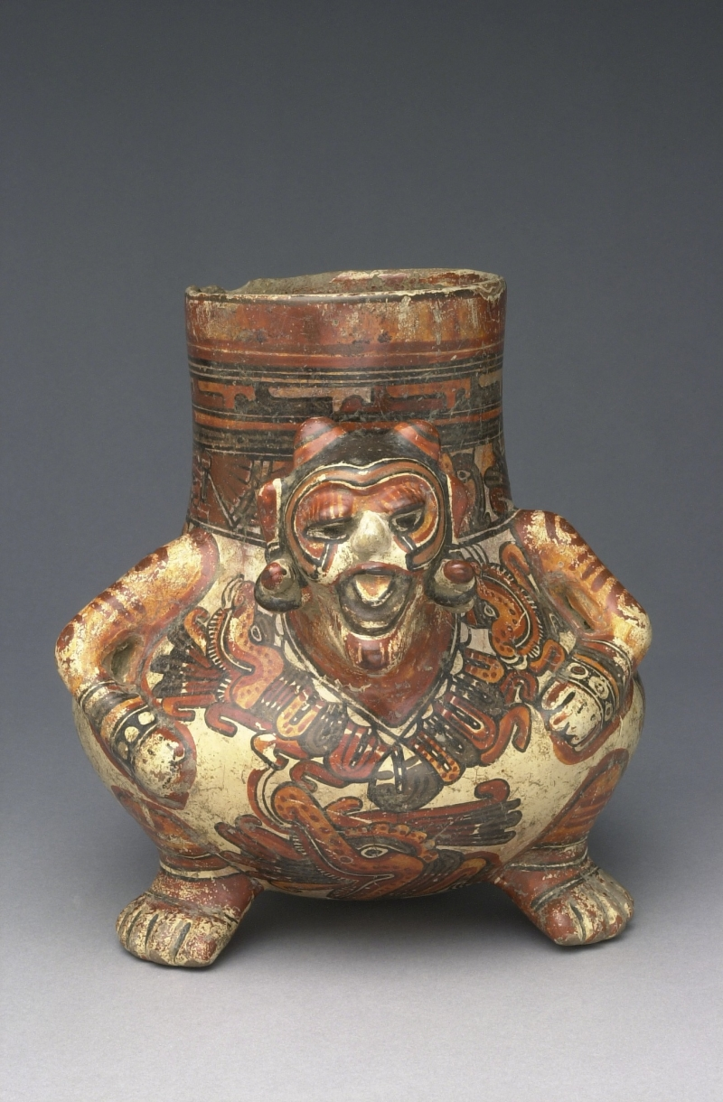 Tripod Jar in the Form of a Seated Human