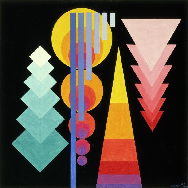 Kandinsky Exercise in Progressions 1969/42