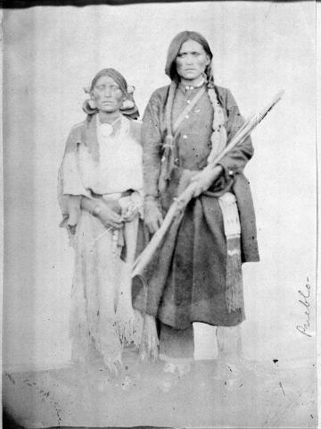Apache Man and Woman, Taos Pueblo
