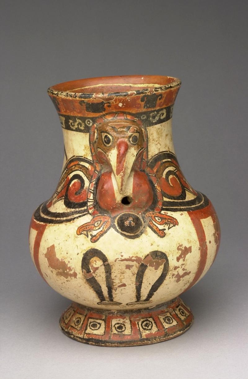 Turkey-form Pedestal Jar
