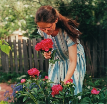Pamela Picking Peonies, Boulder