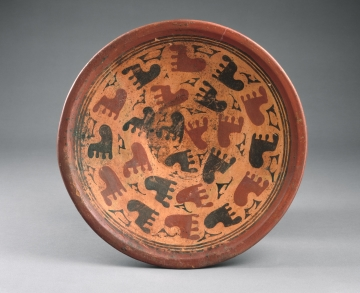 Plate with Footprint Motif