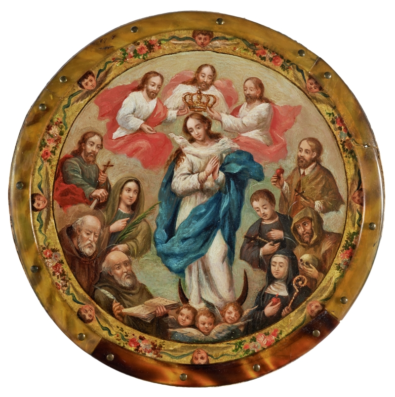 Coronation of the Virgin Surrounded by Saints (nun's badge)