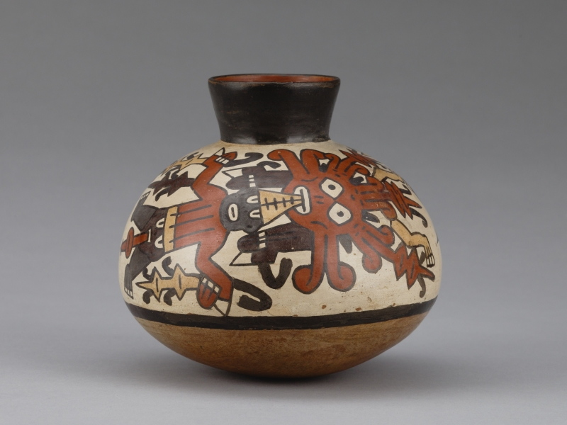 Jar with Human and Supernatural Beings