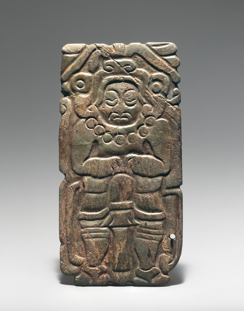 Plaque with Figure in Jaguar Costume
