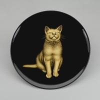Tray with Tabby Cat