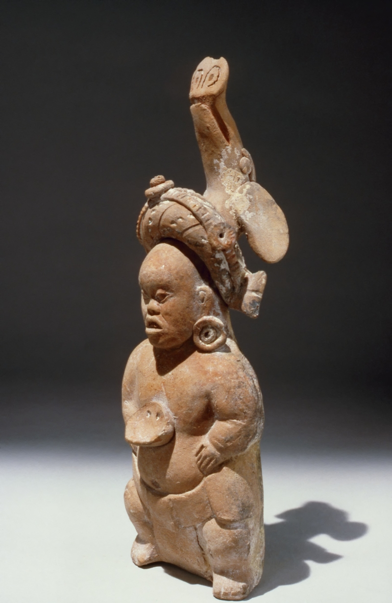 Jaina Style Whistle Figurine of a Dwarf (one of a pair)
