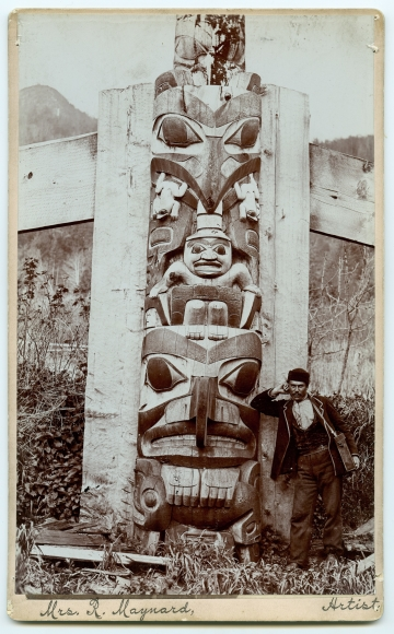 Totem Pole, Skidegate, Queen Charlotte Islands