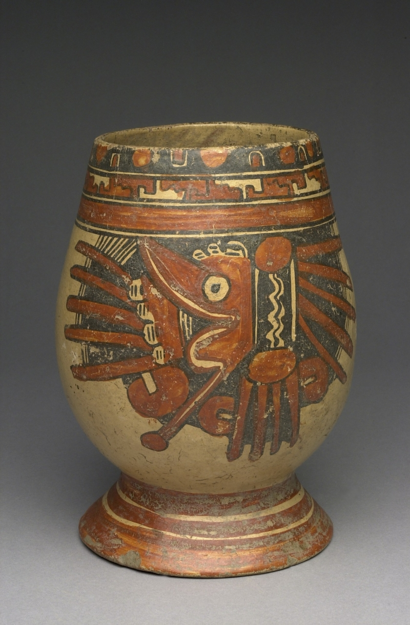 Pedestal Jar with Stylized Serpent Imagery