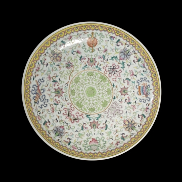 Dish with Eight Buddhist Emblems