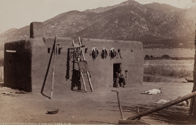 Home of a Pueblo Indian, Taos, New Mexico