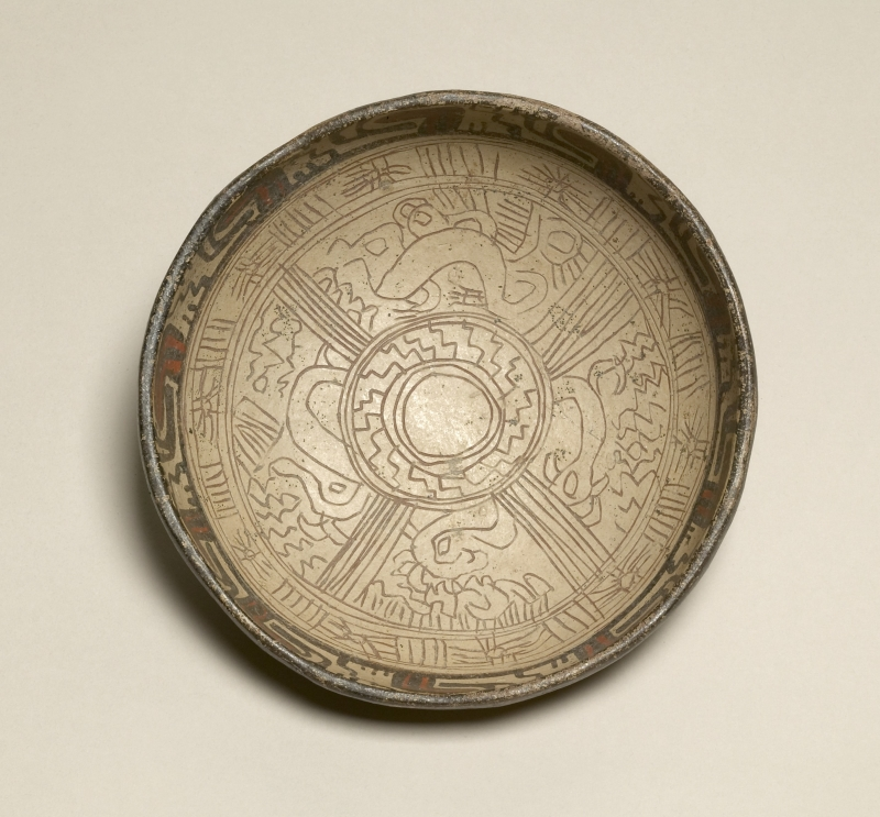 Bowl with Painted and Incised Interior