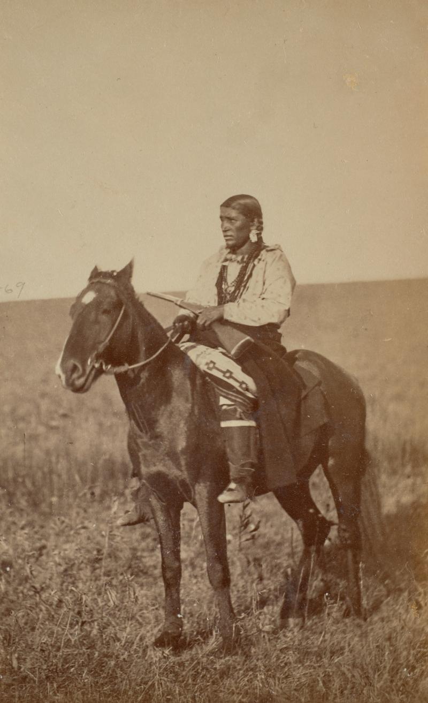 Be-Che, called Betsey, Omaha, on Horseback