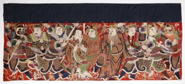 Hanging with Figures from a Chinese Opera: probably A Bed Full of Ivory Tablets