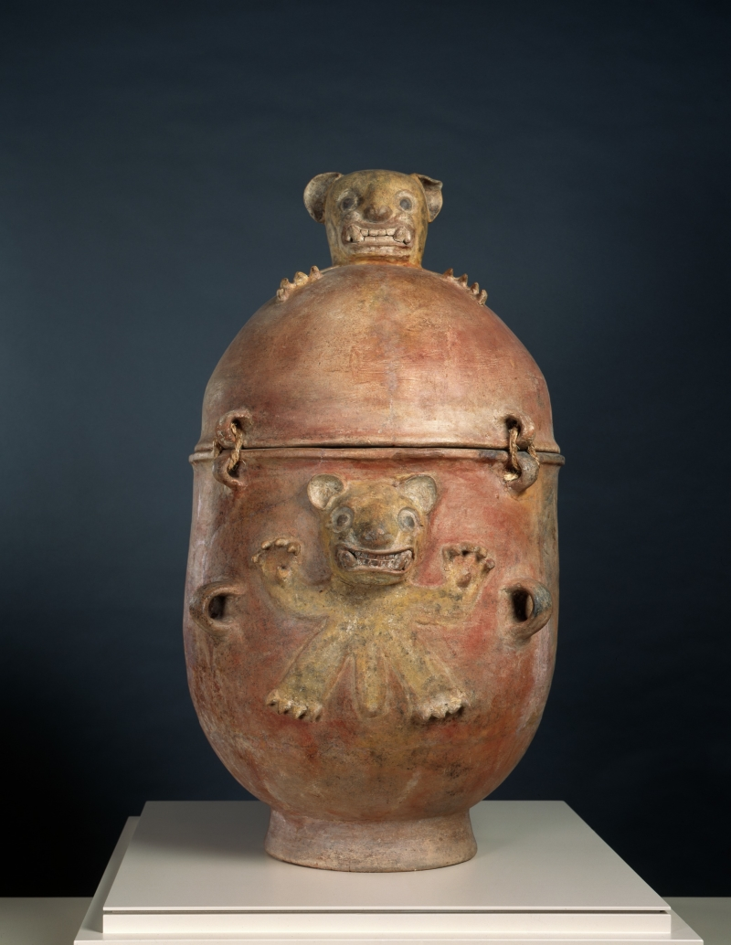 Funerary Urn with Modeled Jaguars