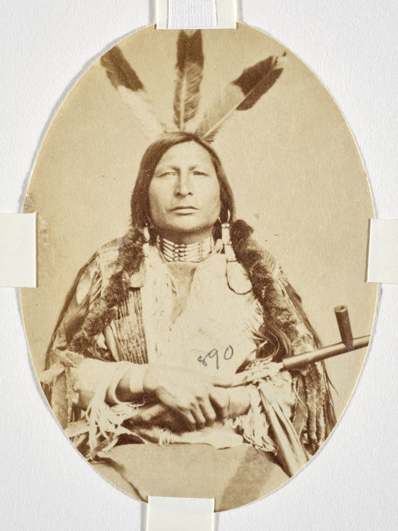 Zitka Sapa Maza or Zin-Tka-Sha-Pa-Ma-Za or Pte-Yah-Pa-Ma-Sa (Iron Black Bird), Yankton Dakota