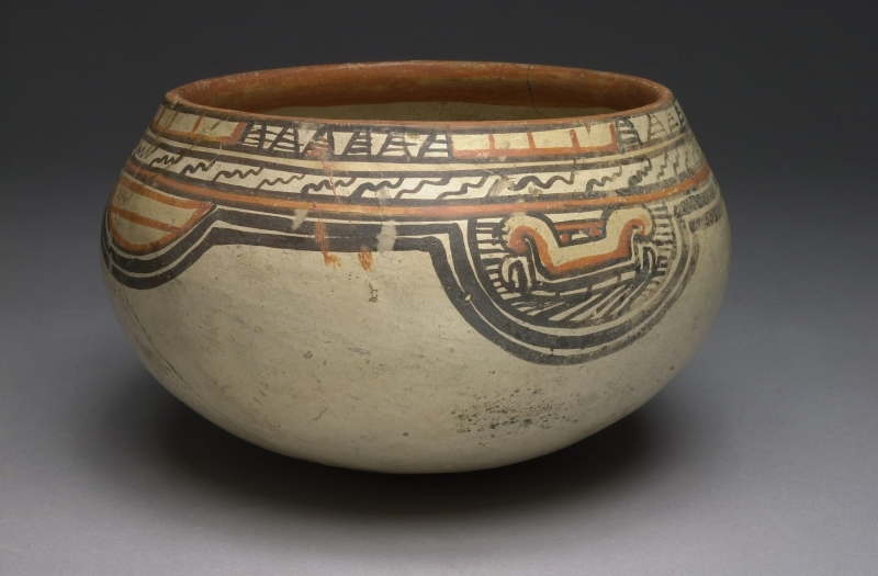 Bowl with Stylized Serpent Imagery