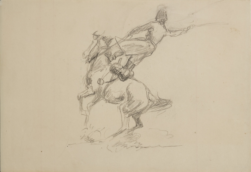 Untitled (Man riding a horse)