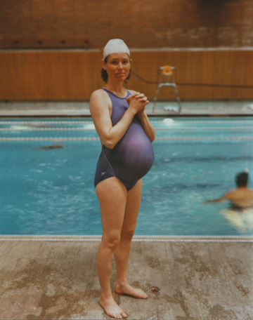 Pamela, Pregnant, at the Swimming Pool, Seattle