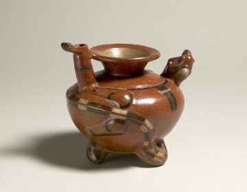 Spouted Jar with Mythological Creature