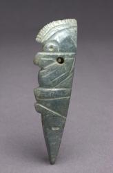 Profile Crested Bird Pendant