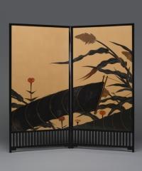Folding Screen (byobu) with Autumn Scene