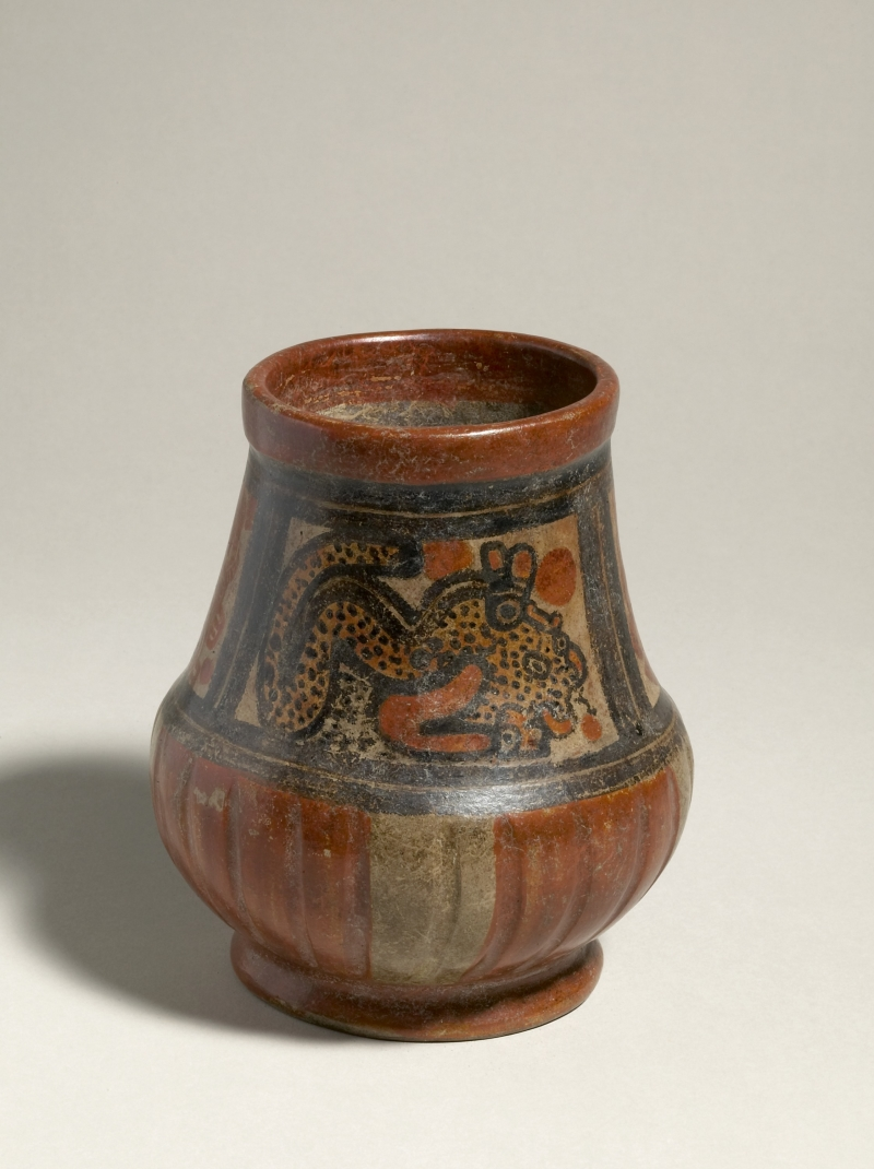 Jar with Painted Felines