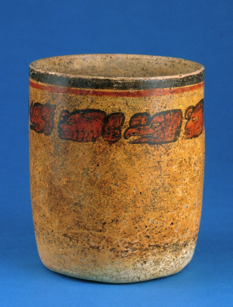 Ceramic Cup with Hieroglyphic Inscription