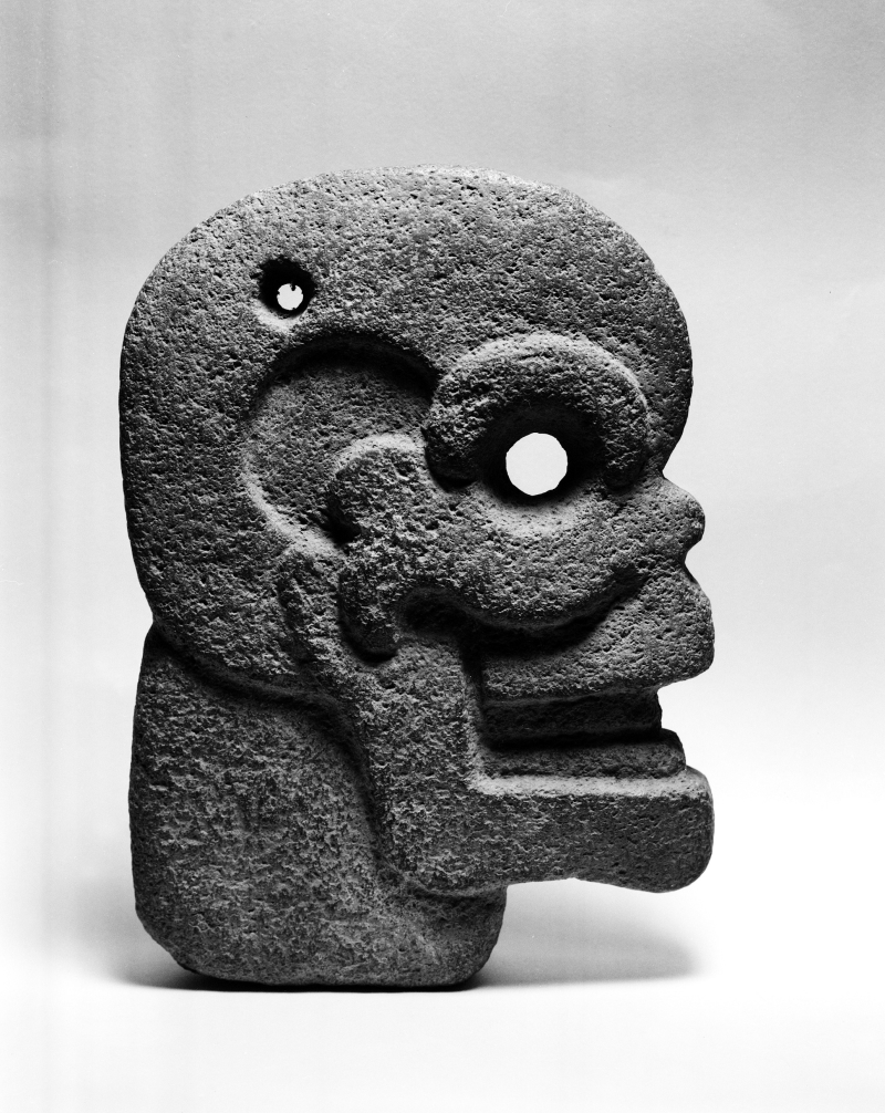 Hacha in the form of a Human Skull