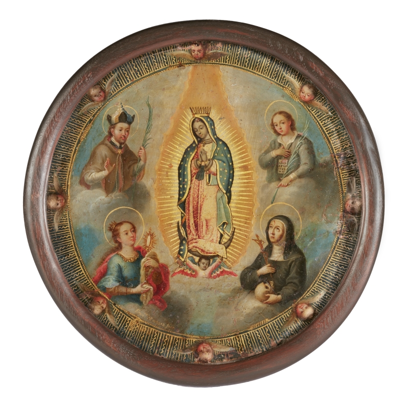 Virgin of Guadalupe with Saints (nun's badge)