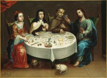 Mystic Dinner (Dona Guiomar of Ulloa, St. Teresa of Avila, St. Peter of Alcantara, Christ)