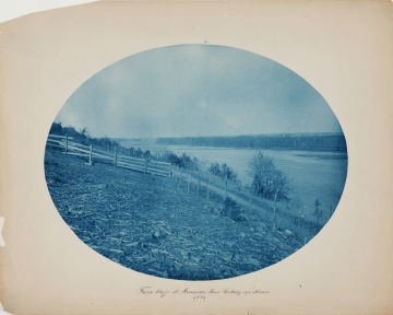 From bluffs at Merrimac, Minn. looking up stream from the album Views on the Mississippi River between Minneapolis, Minn and St. Louis, Mo., 1883-1891